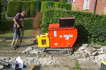 brick crushing machine hire
